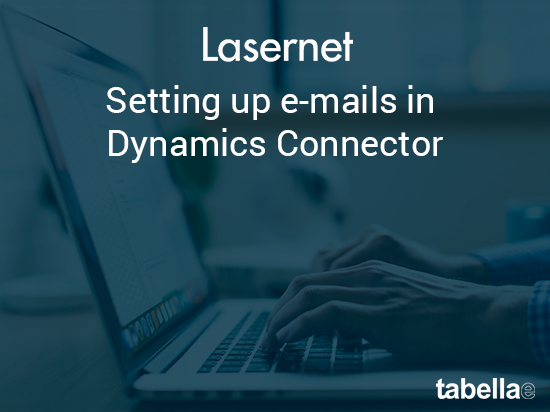 Setting up e-mails in Dynamics  Connector