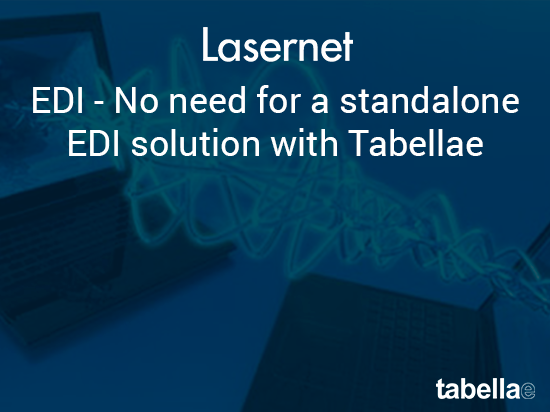 EDI - no need for a standalone EDI solution with Tabellae
