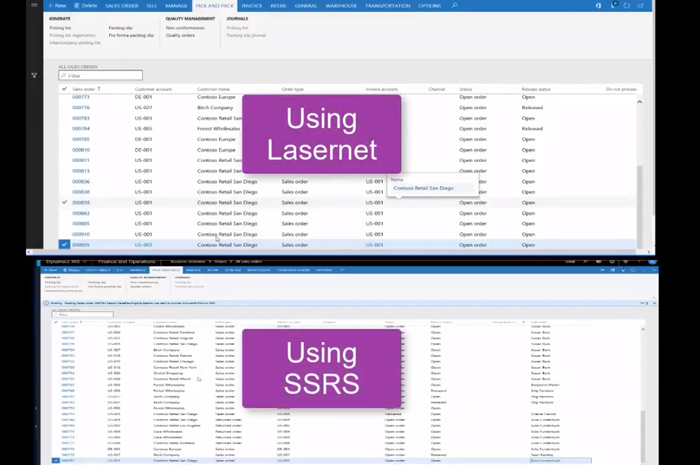 SSRS vs. Lasernet: a direct comparison