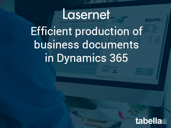 Efficient production of business documents in Dynamics 365